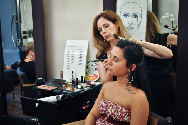 Camera Ready Makeup Workshop taught on location in Naples, Italy, @PennySadler 2012