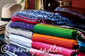 mexican blankets olvera street ©pennysadler 2012