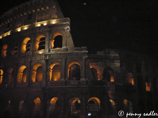 The Coloseum at night ©pennysadler 2012