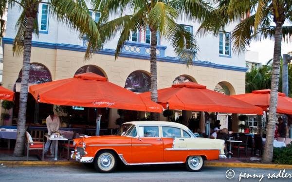vintage chevy Bel Air, Ocean Drive, Miami. ©pennysadler2013 adventuresofacarryon.com