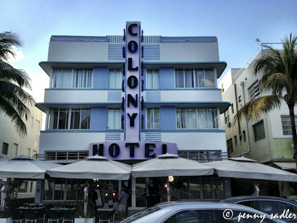 The Colony Hotel, South Beach ©pennysadler 2013  Miami,
