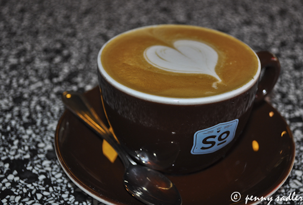 ©pennysadler 2013 cappuccino with foam heart