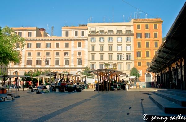 @PennySadler 2013 Piazza San Cosimato, Trastevere