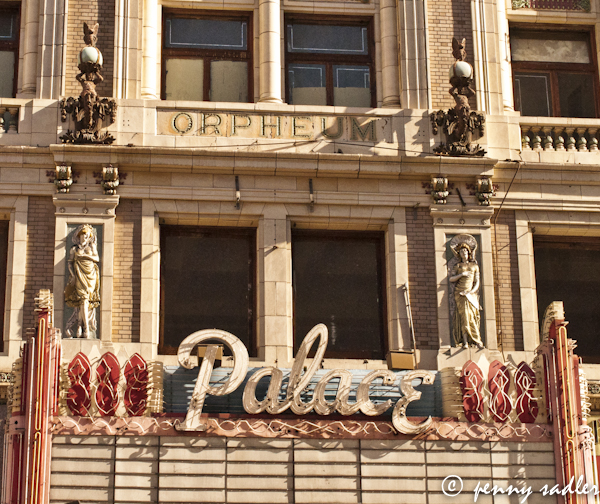 exterior the Palace Theater, LA. Cal. @PennySadler 2013