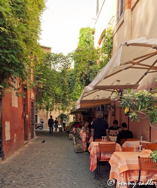 Charming street in Trastevere, Rome, Italy. @PennySadler 2013